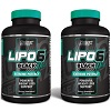 Groupon.com deals on 2-Pack Nutrex Research Lipo-6 Black Hers 120-Count Bottles