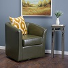 Overstock.com deals on Christopher Knight Home Daymian Faux Leather Swivel Club Chair