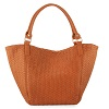 lastcall deals on Neiman Marcus Woven Large Tote Bag, Cognac