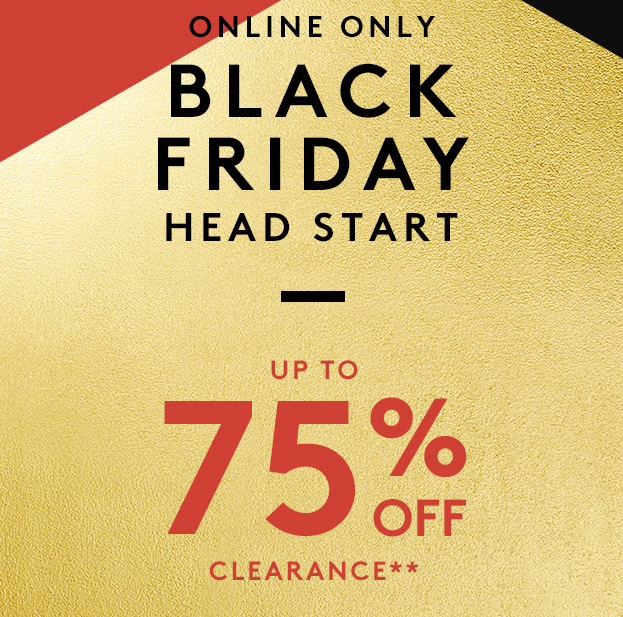 Nordstrom Rack Black Friday Sale: Up to 75% Off Clearance Items