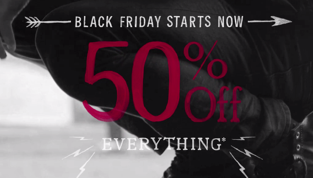 Lucky Brand Black Friday Sale: 50% Off Sitewide