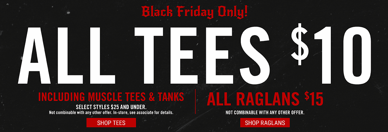 Hot Topic Black Friday Sale: All Tees for $10.00