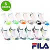 Deals on 6 Pairs: Fila Shock Dry No-Show Athletic Socks