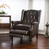 Overstock.com deals on Christopher Knight Home Walter Brown Bonded Leather Recliner Club Chair