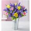 1800flowers deals on Spring Tulip and Iris Bouquet with French Flower Pail Vase