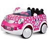 Deals on Disney Minnie Mouse Hot Rod Coupe 12 Volt Ride On