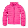 Girls Long Sleeve Basic Lightweight Puffer Jacket