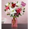 Florists Valentine's Day Sale: Flowers + Vase + Balloon from $33.99 Deals