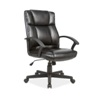Deals on Stratford Black Faux Leather Padded Office Chair