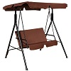 Deals on Costway Loveseat Patio Canopy Swing Glider Hammock