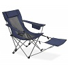BigLots.com deals on 2 Navy Blue Quad Chair with Footrest