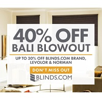 Deals on Blinds Coupon: Extra 40% off Levolor & Norman Blinds