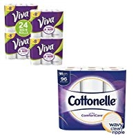 Deals on 36-Ct Cottonelle Ultra Toilet Paper + 24 VIVA Paper Towels