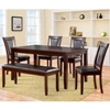 Deals on Harlow 6-Piece Padded Dining Set with Bench