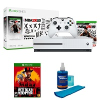 Deals on Microsoft Xbox One S 1TB NBA 2K19 & Red Dead Redemption 2 Bundle