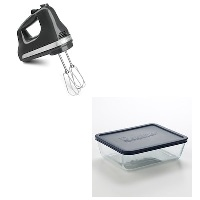 Deals on KitchenAid KHM512 Hand Mixer + Pyrex Storage Plus 11-Cup