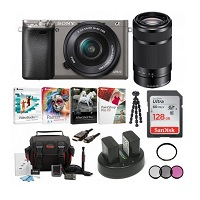 Sony Alpha A6000 Camera w/16-50 & 55-210mm Lenses