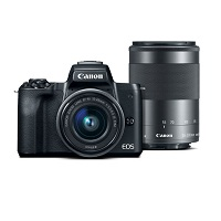 Deals on Canon EOS M50 24.1MP Digital Camera w/15-45mm Lens & 55-200mm