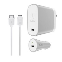 2 Pack Belkin MIXIT USB Type C 45W Cable Home + Charger Kit Deals