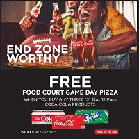 Deals on FREE Food Court w/Purchase 3 12oz 12-Pack Coca-Cola Products