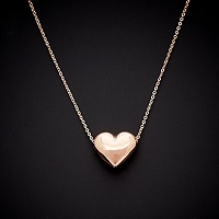 Deals on 14K Italian Gold Heart Pendant Necklace