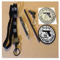 Deals on Glock Promo Pack (Lanyard, Pen, Pencil, Glock Keychain, Patch)