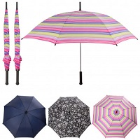 3-Pack Totes Easy Open Automatic 40-inch Large Stick Umbrellas