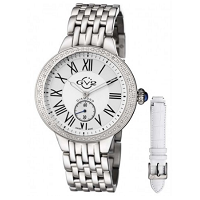 GV2 BY GEVRIL Astor Diamond Bezel Quartz Ladies Watch