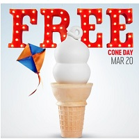 Deal for Dairy Queen: Small Vanilla Ice Cream Cone for FREE