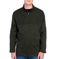 Deals on Van Heusen Mens Big & Tall Ribbed 1/4 Zip Knit Pullover