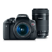 Deals on Canon EOS Rebel T6i EF-S 18-55mm & EF-S 55-250mm Lens Refurb