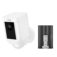 Ring Spotlight HD Battery-Power Security Camera w/Battery