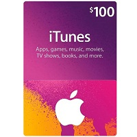 $100 Apple iTunes Digital Code