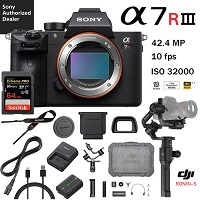 Deals on Sony a7R III 42.4MP Camera w/DJI Ronin-S 3-Axis Gimbal Kit