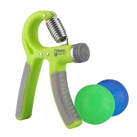 Deals on Hand Grip Strength Trainer Kit with 2 Hand Therapy Balls