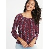Deals on Old Navy Relaxed Floral-Print Portrait-Neck Blouse for Women