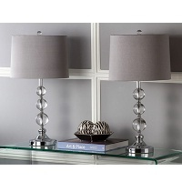 2-Pack Safavieh Lighting 27-in Crystal Orbs w/LED Table Lamp Deals