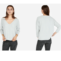 Deals on Express Velvet Chenille V-Neck Sweater