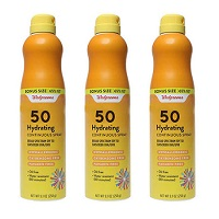 3-Pack Walgreens Hydrating Continuous Spray SPF 50 Sunscreen