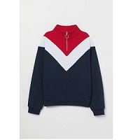Deals on H&M Stand-up Collar Sweatshirt