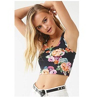 Deals on Forever 21 Clearance Sale: Floral Print Crop Top for $3.00