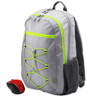 HP Active Backpack + Wireless Mouse Bundle