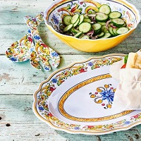 Deals on Floreale 4-Piece Melamine Serving Set