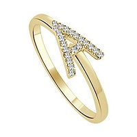 Deals on Sabrina Designs 14K 0.10 ct. tw. Diamond Initial Ring