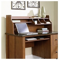 Deals on Sauder Appleton Hutch For Computer Desk, Sand Pear
