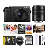 Deals on Panasonic LUMIX GX85 16MP Camera w/12-32mm + 45-150mm Lenses Bundle