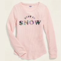 Deals on Old Navy Thermal-Knit Long-Sleeve Tee for Girls