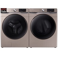 Deals on Samsung 27-in 4.5 cu. ft. Front Load Washer + Electric Dryer