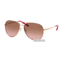 Deals on Michael Kors Womens Rodinara Rose Gold-tone Aviator Sunglasses