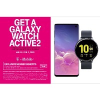 Deals on Free Galaxy Watch Active 2 w/Buy Samsung Galaxy S10